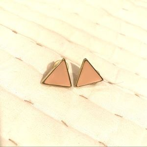 Pale Pink Triangle Studs